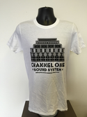 Channel One T-Shirt Speaker Stack - Gildan Cotton White/Black  (Various sizes)